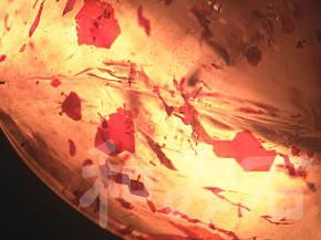 不定形薄片状のレピドクロサイト・インクルージョン