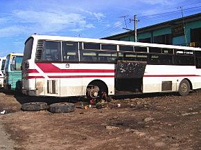 バス修理のおじさん