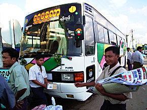 マンダレー行きバス