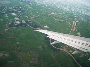 ヤンゴン上空